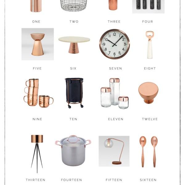 Copper Decor | helloallisonblog.com