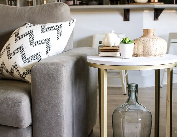 Accent Table Makeover with MudPaint | helloallisonblog.com