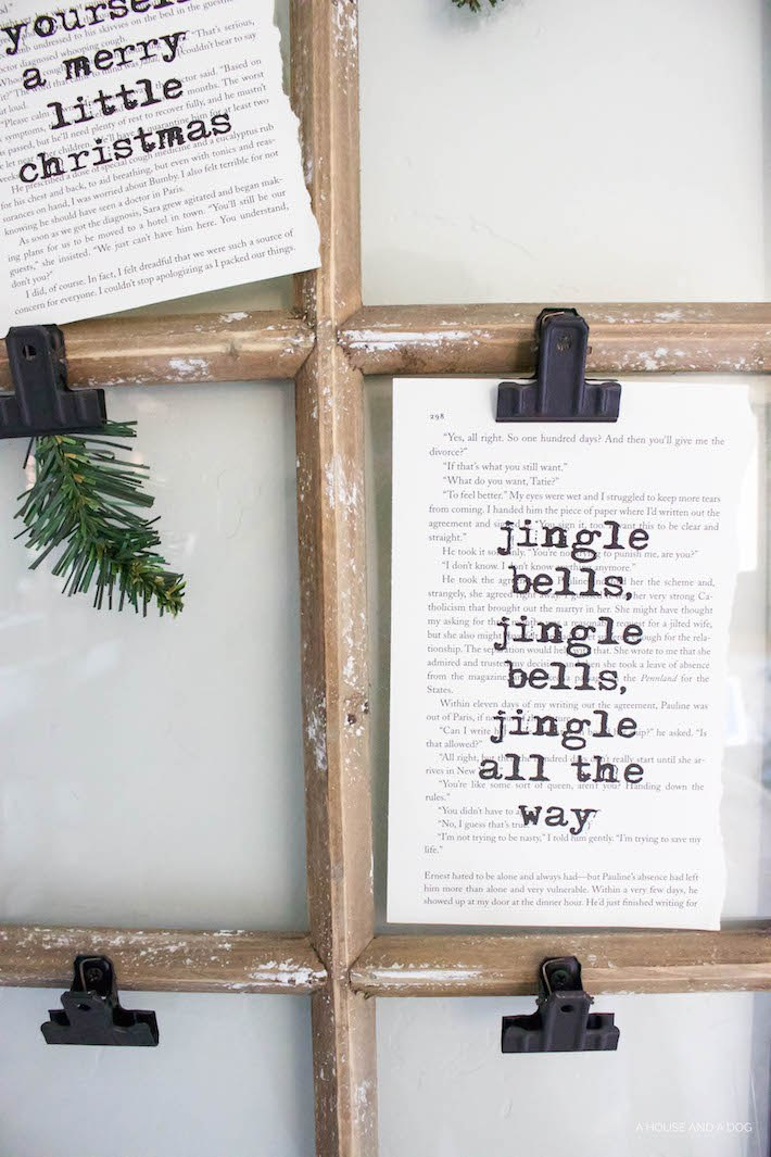 Christmas Book Art with FREE Printables | helloallisonblog.com