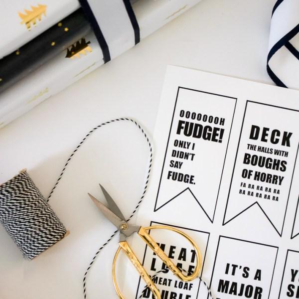 FREE Gift Tag Printables | A Christmas Story Printable | helloallisonblog.com