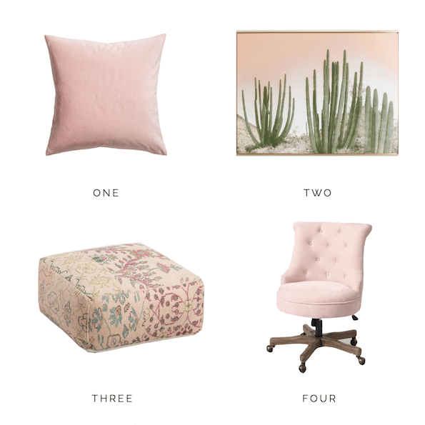 Blush Pink Home Decor