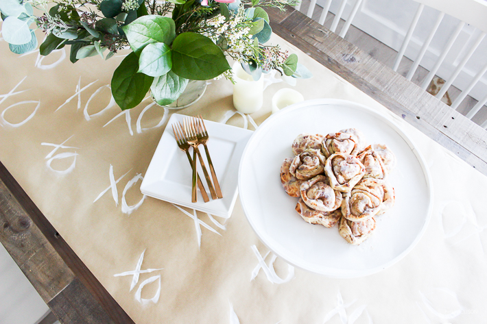 For An Extra Touch, I Added A Simple DIY Table Runner Using Supplies I  Already Had Around The House. It Was A Quick And Simple Solution To  Decorating And ...