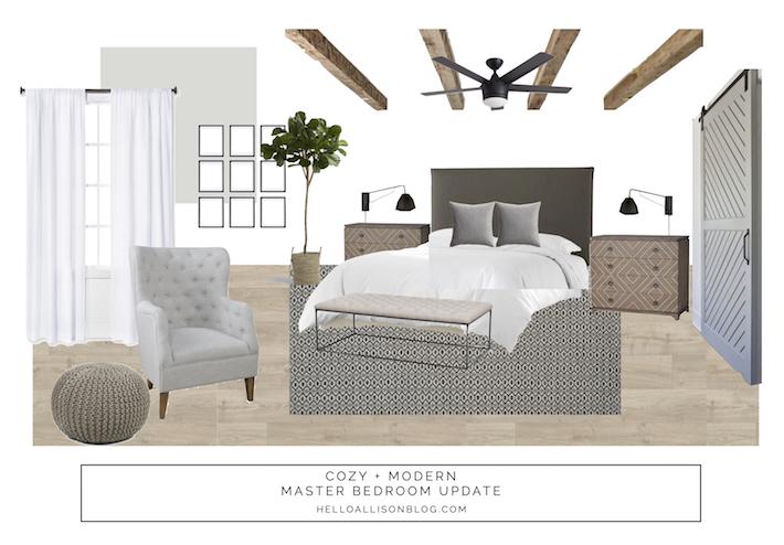 Master Bedroom Refresh Design Board | helloallisonblog.com