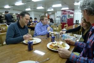 Enjoying our last dinner in Antarctica