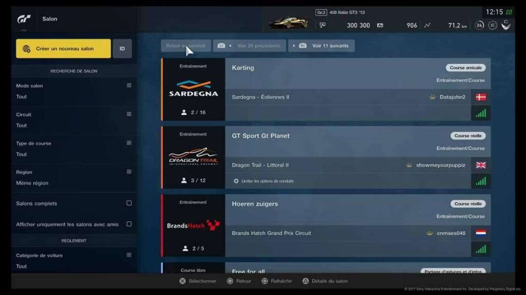 GT Sport - Online