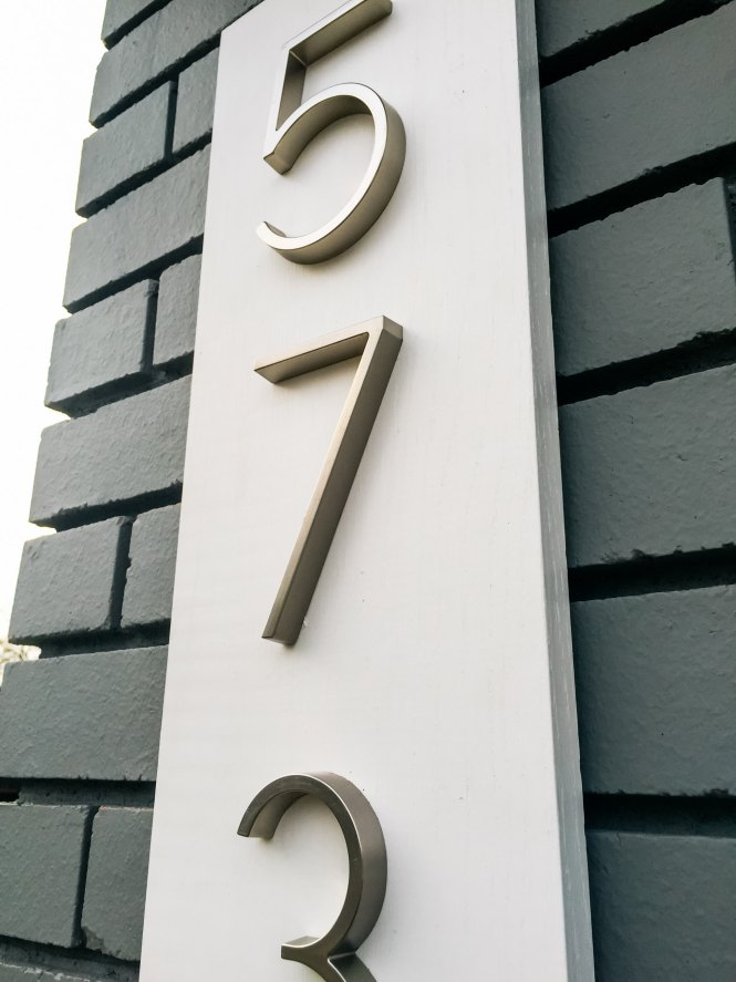 Modern Design House Numbers Brightchatco - Contemporary house numbers