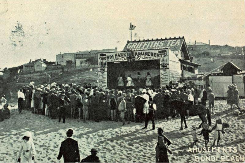 Amusements at Bondi Beach circa 1907