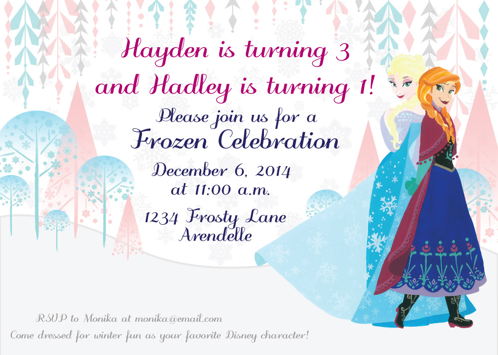 sisters frozen birthday party hello