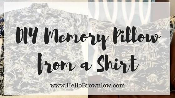 DIY Memory Pillow from a Shirt