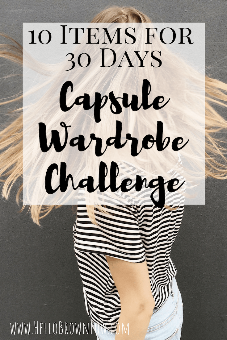 10 Items for 30 Days Capsule Wardrobe Challenge