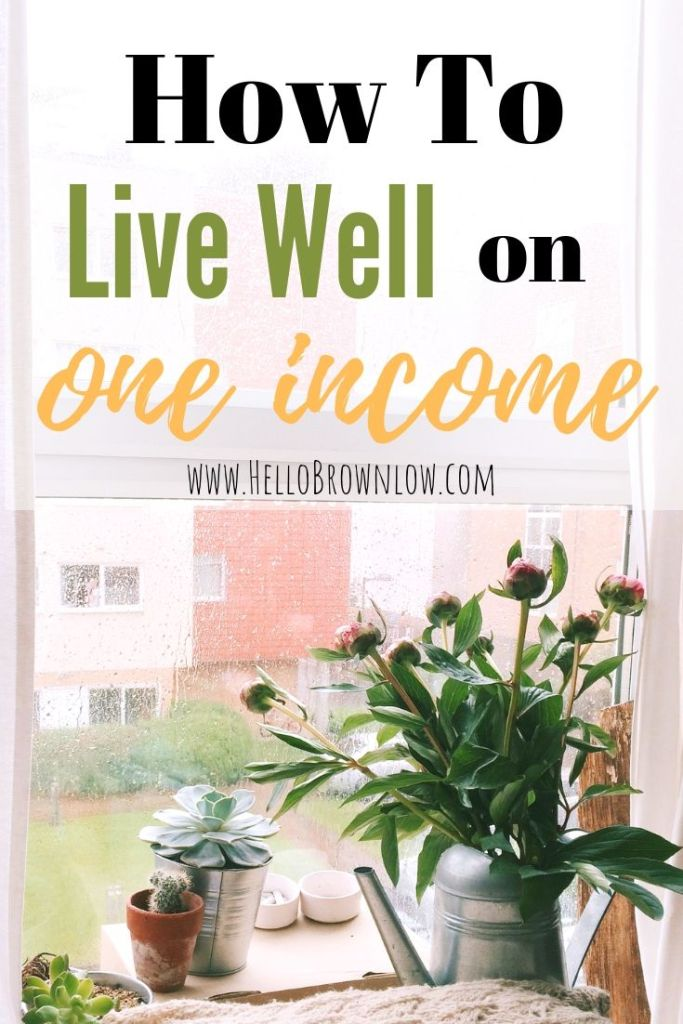 How to Live Well on One Income