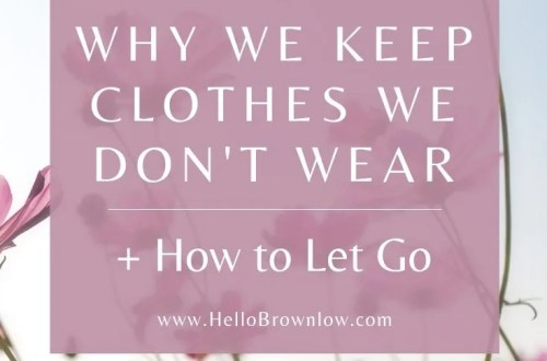 Why We Keep Clothes We Don't Wear