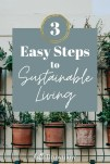 Easy steps to sustainable living