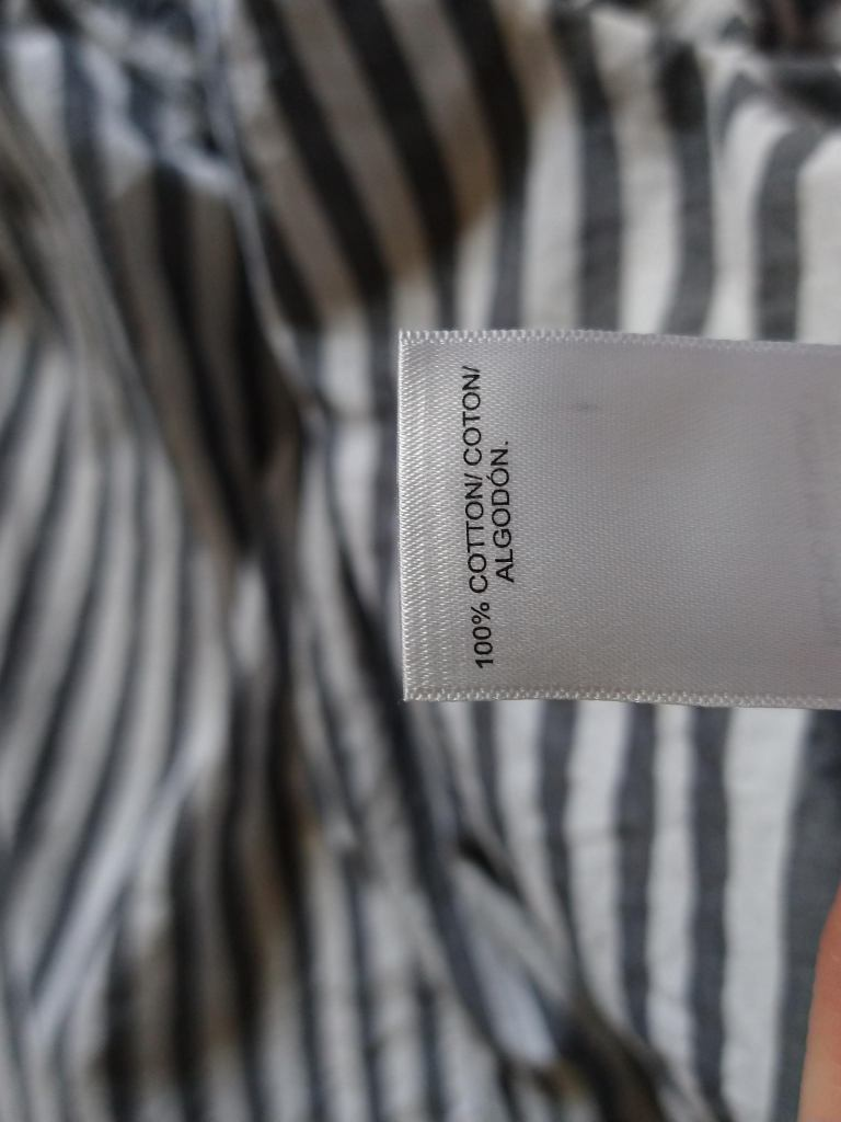 Lucky Brand 100% cotton shirt - what to look for when buying new clothes - materials