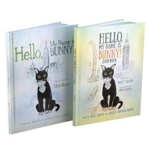 A children's book gift set about an adventurous cat