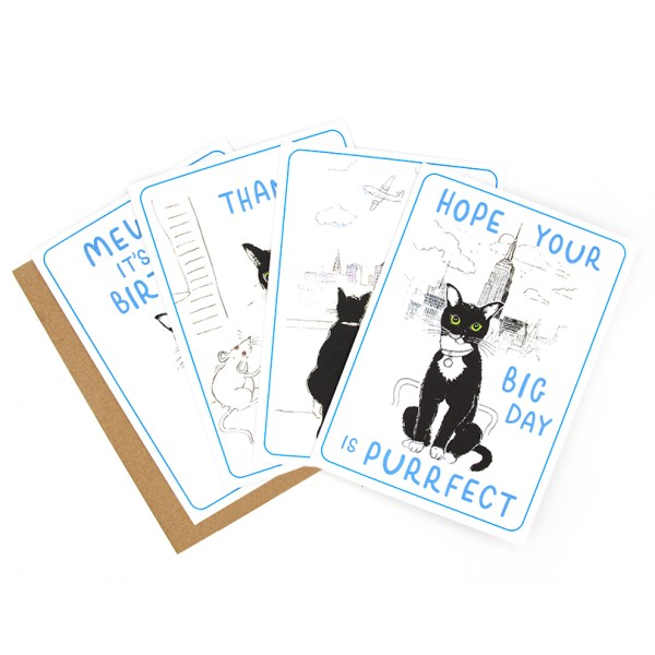 A set of greetings cards