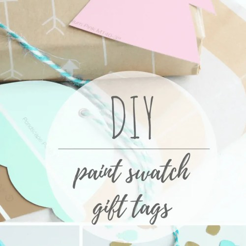 DIY Paint Swatch Gift Tags:  Unicorns, ice cream cones, flamingos…Oh my!