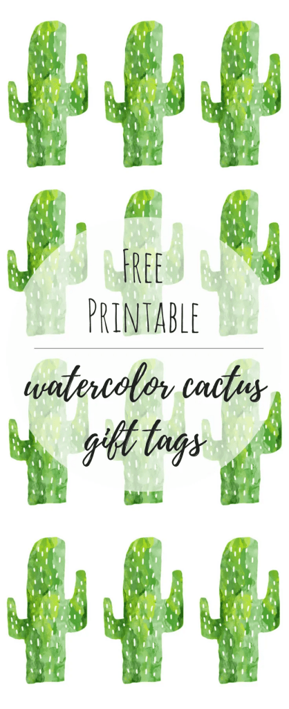 Free Printable Cactus Gift Tags