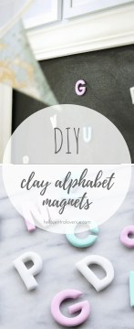 DIY Clay Alphabet Magnets