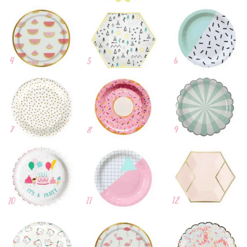 Delightful Paper Plates for a Girl's Birthday!