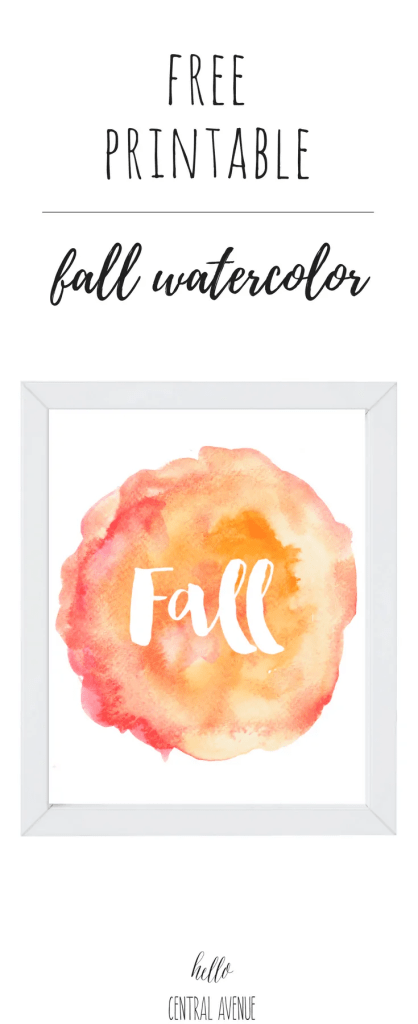 FREE Fall Watercolor Printable