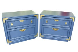Navy Campaign Style nightstands front