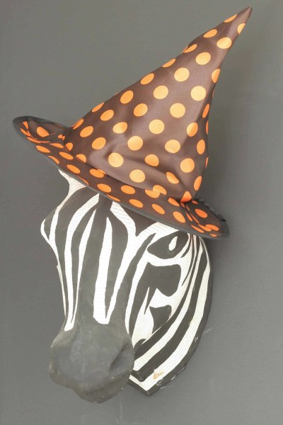 Cheap Halloween decorations-witch's hat on zebra