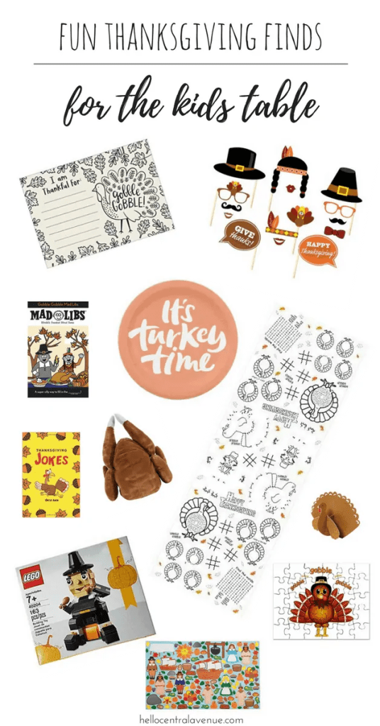 Fun Thanksgiving Finds for the Kids Table