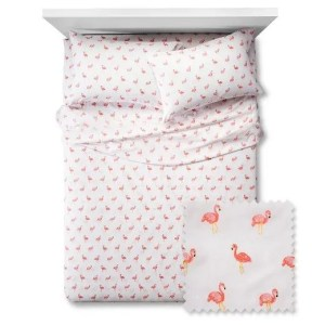 Pillowfort flamingo sheet set