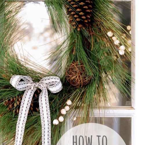 How To Hang a Wreath Without Making a Hole in Your Door