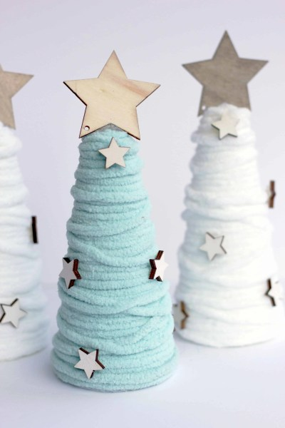 World Market inspired wool cone trees-easy diy and so much less expensive!