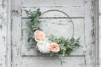 An Easy DIY Spring Hoop Wreath