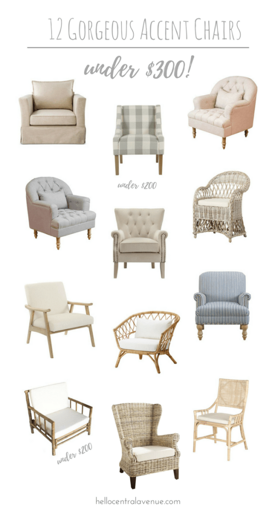 12 Gorgeous Accent Chairs Under $300!