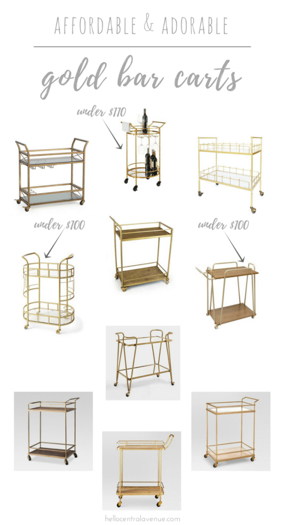Affordable & Adorable Gold Bar Carts