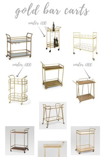 Adorable & Affordable Gold Bar Carts