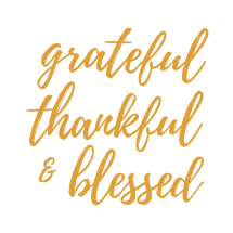 Here's a great reminder for November and all year round! grateful thankful & blessed FREE printable
