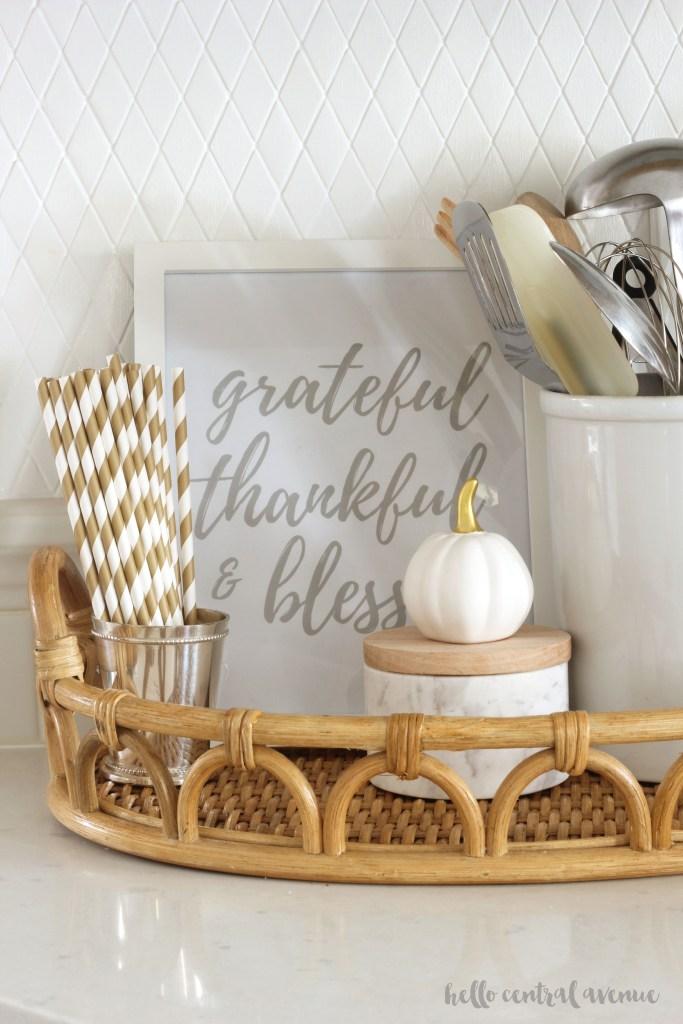FREE Thanksgiving Printable: Grateful Thankful & Blessed