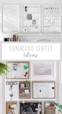 Several command center ideas to give you inspiration to get organized