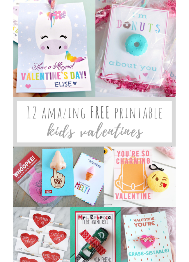 12 Amazing FREE Printable Kids Valentines