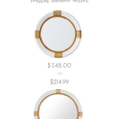 Adorable vs. Affordable: Coastal Bamboo Mirror