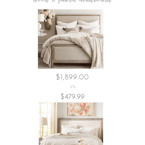 Adorable vs. Affordable: Wood and Fabric Headboard