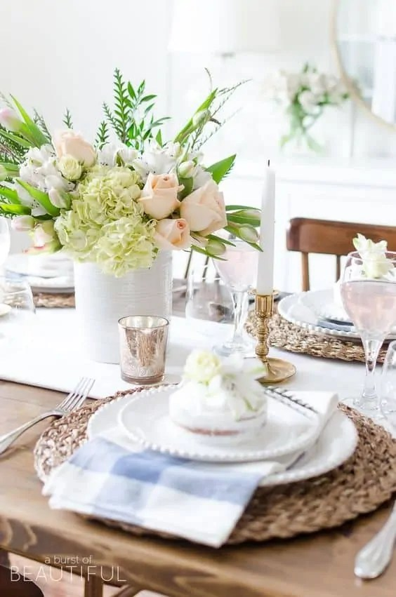 If you want to rock the table decorating game, you need to check out these beautiful spring table decorations! Whether it's their classicfeel or colorful flowers, each table's spring decor will leave you feeling refreshed, inspired, and ready for Easter!