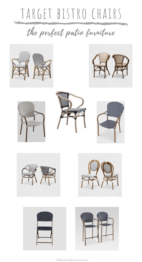 If you are on the search for some new patio chairs, make sure you check out these indoor outdoor Target bistro chairs! There are so many styles, colors, and price ranges that there's something for everyone!