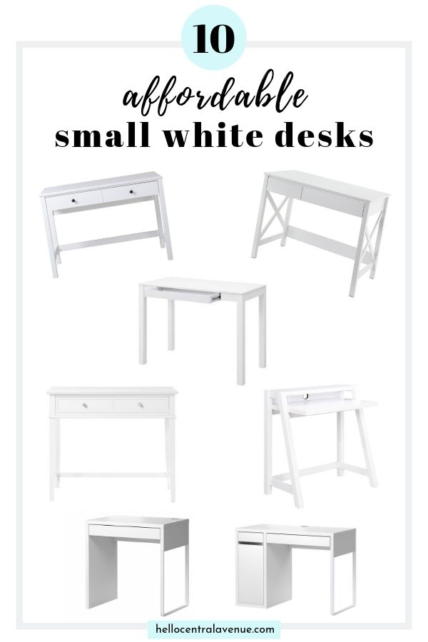 A Small White Desk For An Office Nook Hello Central Avenue