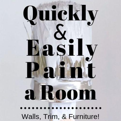 One Room Challenge Week 2: How to Easily and Quickly Paint a Room!