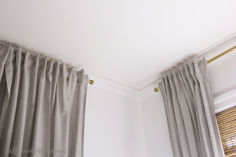 affordable gold curtain rod