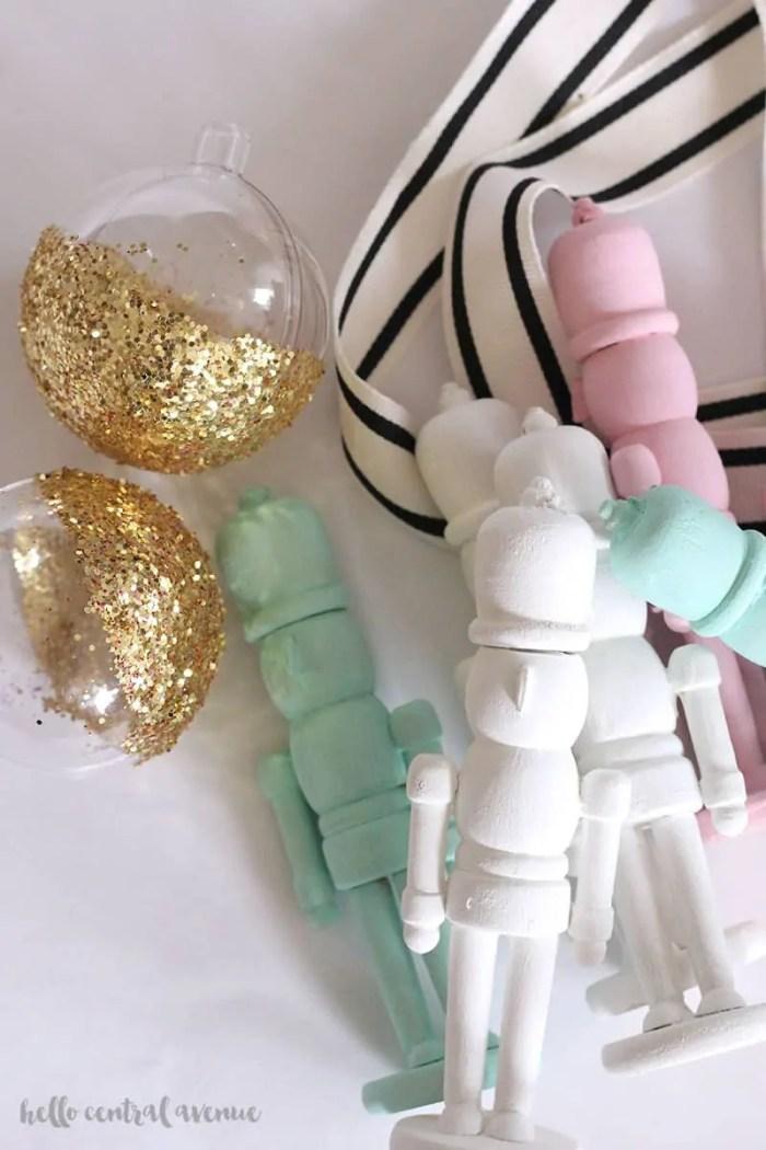 These little wooden nutcracker ornaments make the cutest simple DIY Christmas decor!