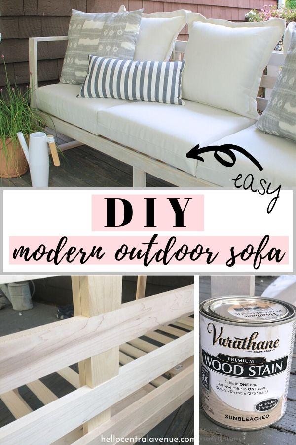 easy diy modern outdoor sofa hello