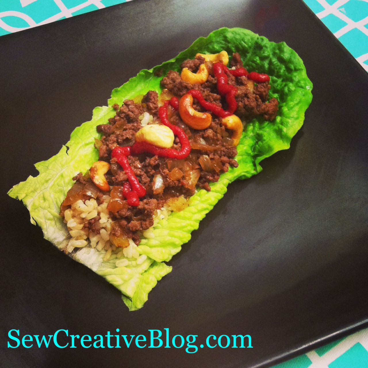 Asian Cashew Lettuce Wraps Recipe from SewCreativeBlog