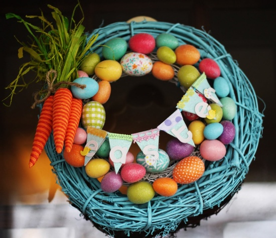 Robin's egg blue easter wreath